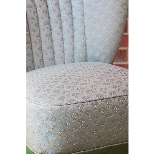50's Era Slipper Chairs With Tapered Legs - A Pair - Image 5 of 10