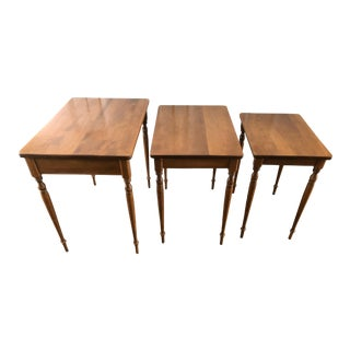 1960s Ethan Allen Nesting Tables - Set of 3 For Sale