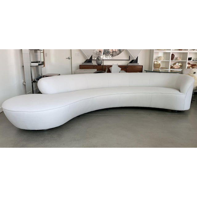 Mid-Century Modern Vladimir Kagan Serpentine Sofa for Directional For Sale - Image 3 of 13