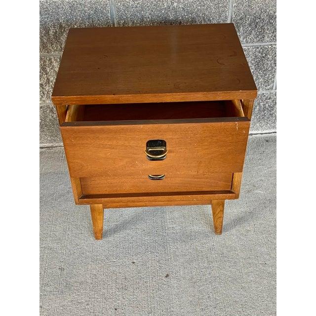 Brown Vintage Mid-Century Modern Nightstand For Sale - Image 8 of 10