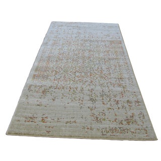 "Distressed Turkish Green Orange Rug - 5'3"" x 7'7"""