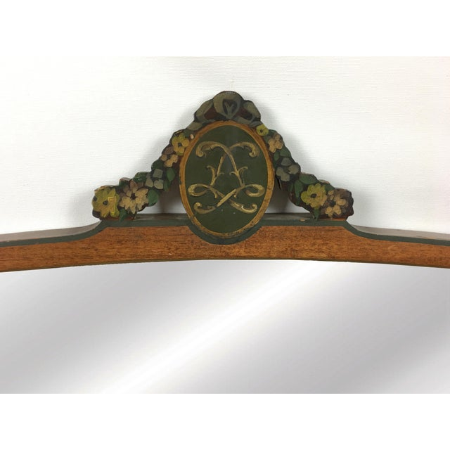 Mid 20th Century 20th Century Art Deco Wooden Manor Mirror For Sale - Image 5 of 6