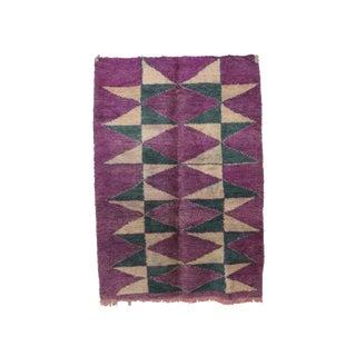 "Boujad Vintage Moroccan Wool Rug - 6'3"" X 8'10"" For Sale"
