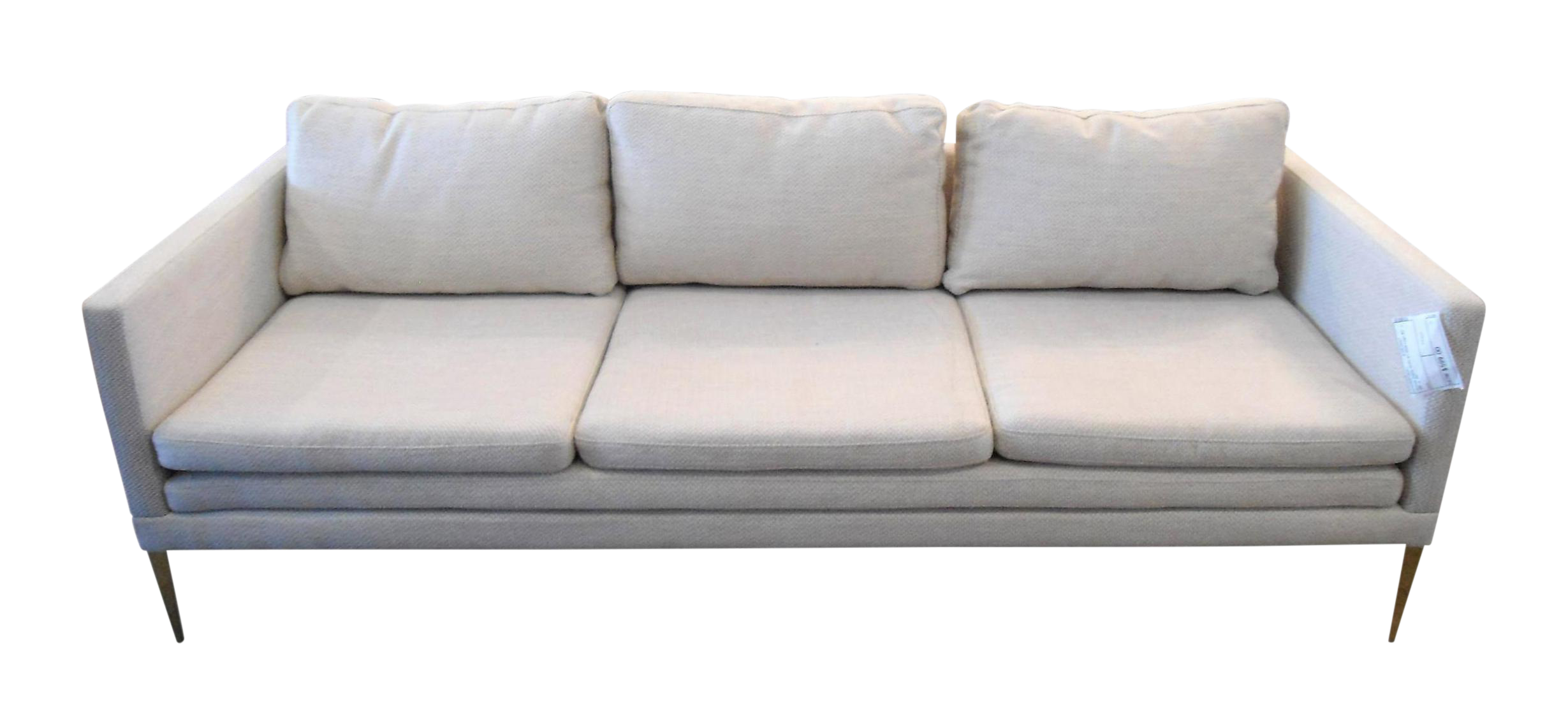 Bon Cream Ivory Sofa With Gold Metal Legs