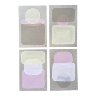 Contemporary Landscape Paintings by Angela Seear - Set of 4 For Sale