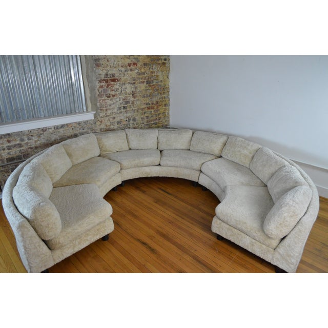 Amazing Milo Baughman Mid Century Modern Sectional Pit Sofa For Sale - Image 9 of 10
