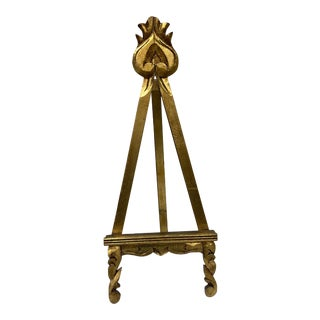 Large Vintage Gold Leaf Art Easel For Sale