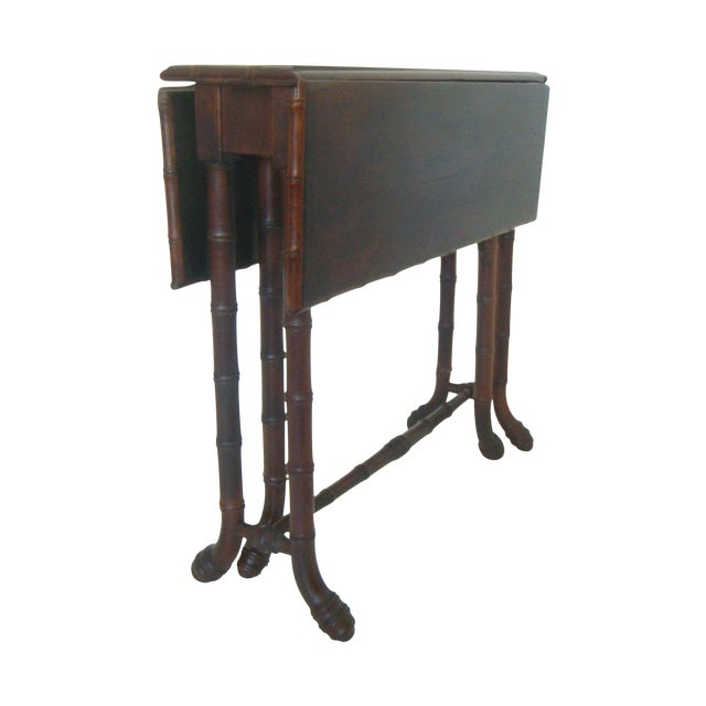 Antique Faux Bamboo Gate Leg Table - Image 1 of 8