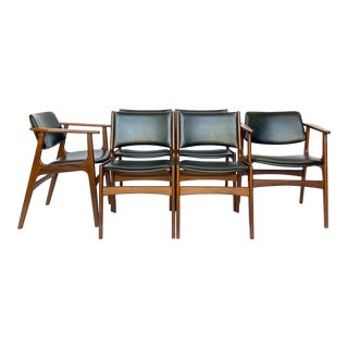 1960s Mid-Century Erik Buch Style Dining Chairs - Set of 6 For Sale