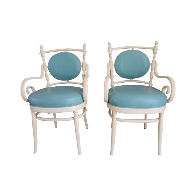 Palm Beach Regency Bentwood Chairs - Pair - Image 1 of 4