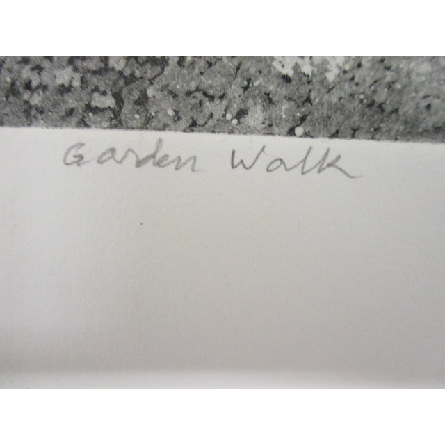 Mid-Century Modern Vintage Lithograph Titled: Garden Walk and Signed by S. Tabler For Sale - Image 3 of 5