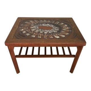 Mid-Century Tile Top Low Table For Sale