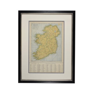 1920s Vintage Framed Ireland Map For Sale