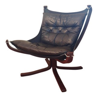 Sigurd Ressell for Vatne Møbler Low Falcon Chair For Sale