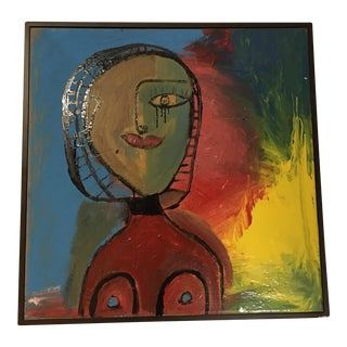 Mid Century Abstract Portrait of Lady