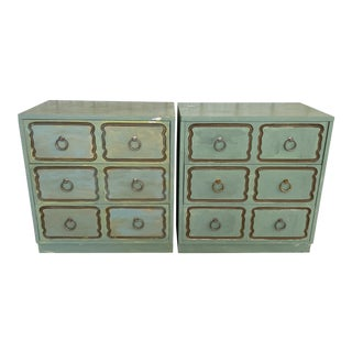 Vintage Hollywood Regency Dorothy Draper Espana Chests-A Pair For Sale