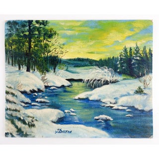 Snowy Forest Landscape Painting Preview
