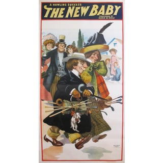1901 Original American Theater Poster, the New Baby