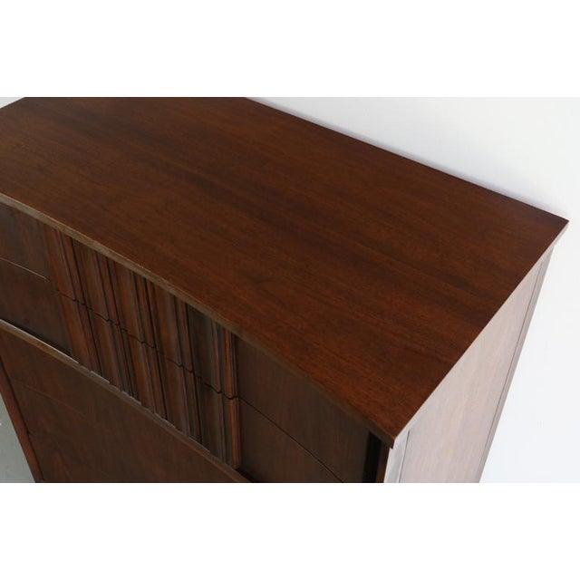 Brown Edmond Spence Tall Dresser in Walnut, Sweden For Sale - Image 8 of 11