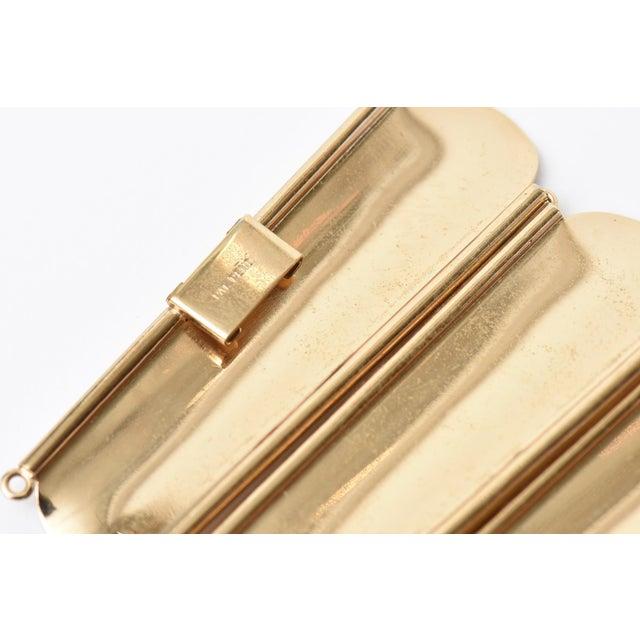Napier Modern Gold Tone Cuff Bracelet For Sale - Image 10 of 11