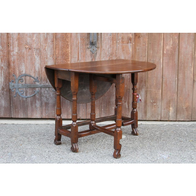 Brown 19th C. English Gateleg Console For Sale - Image 8 of 11