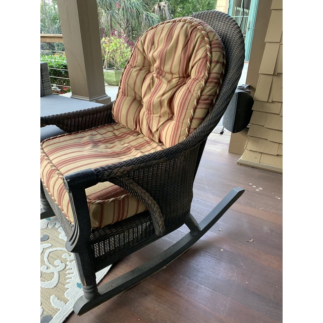 Cottage Modern Lloyd Flanders Outdoor Rocking Chair For Sale - Image 3 of 9
