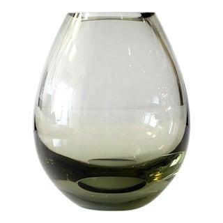 1960 Signed Per Lütken Holmegaard Denmark Smoke Vase For Sale