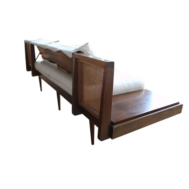 Fantastic Mid Century Sofa With Attached End Tables Pabps2019 Chair Design Images Pabps2019Com