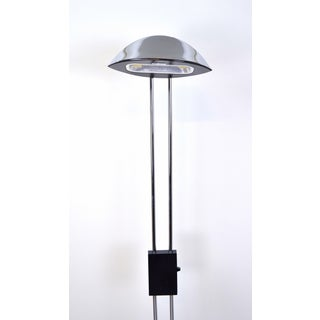 F. Fabbian Italian Modern Chrome & Black Metal Dimmable Floor Lamp Preview