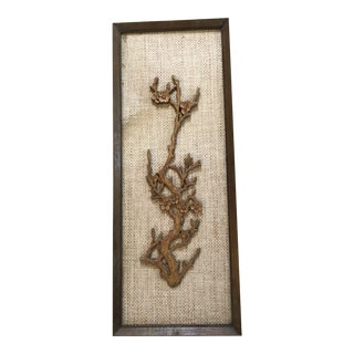 Vintage Raffia & Wood Wall Hanging