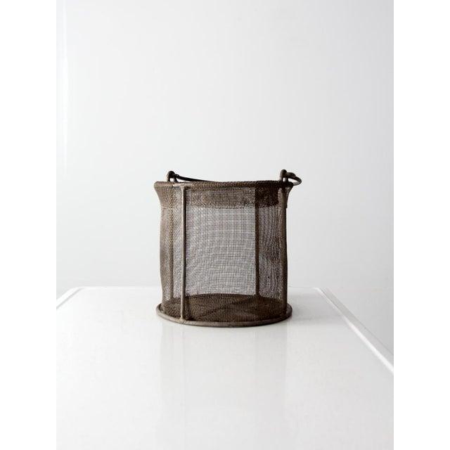 Vintage Wire Mesh Basket - Image 4 of 7