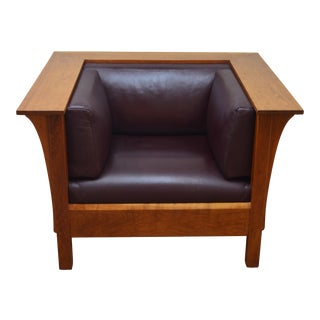 Stickley Mission Cherry Chair For Sale