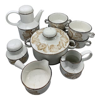 Midwinter Stonehenge's Seascape Serving Set of 9 For Sale