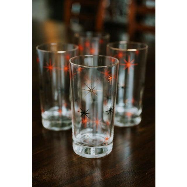 Mid-Century Modern Mid-Century Modern Starburst Drinking Glasses-Set of 4 For Sale - Image 3 of 7