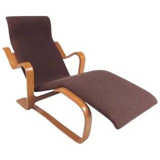 Scandinavian Modern Bentwood Teak Lounge Chair For Sale
