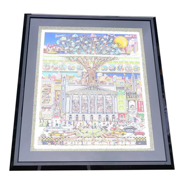 """Money Doesn't Grow on Trees""- 3d Signed Limited Edition Serigraph by Charles Fazzino For Sale"