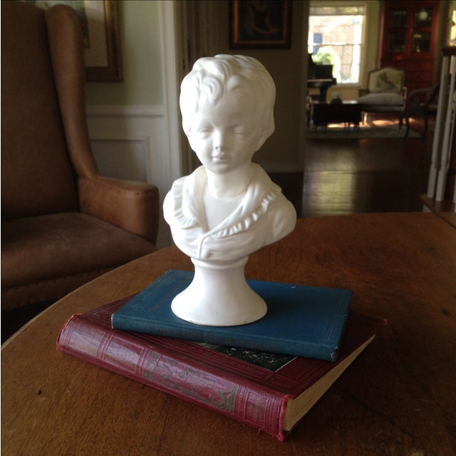 Vintage White Ceramic Young Child Bust - Image 4 of 11