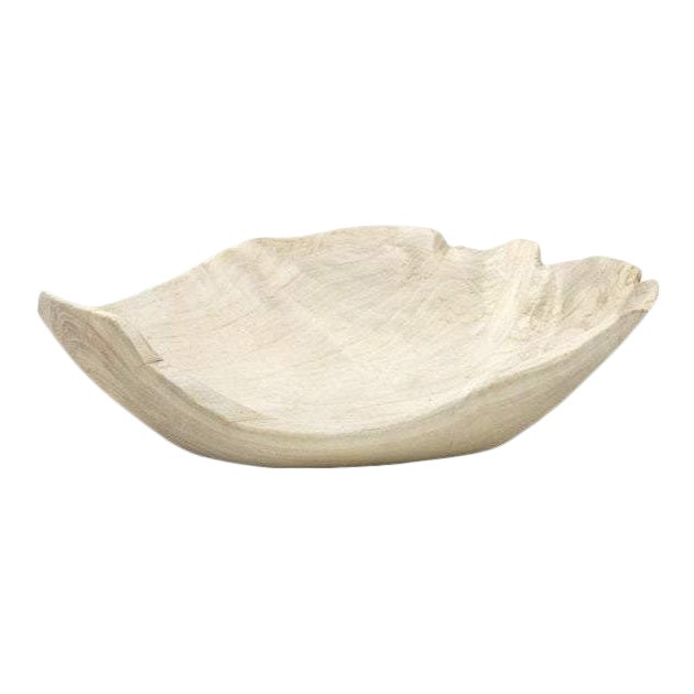 Organic Modern Wood Leaf Chip Bowl For Sale