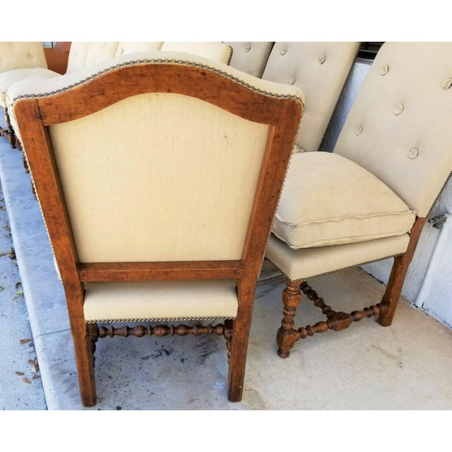 French Dennis & Leen Canterbury Jacobean Solid Wood Dining Chairs - Set of 12 For Sale - Image 3 of 10