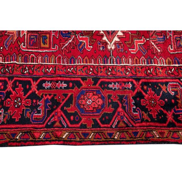 "Textile Vintage Persian Heriz Rug, 10'2"" X 12'10"" For Sale - Image 7 of 12"