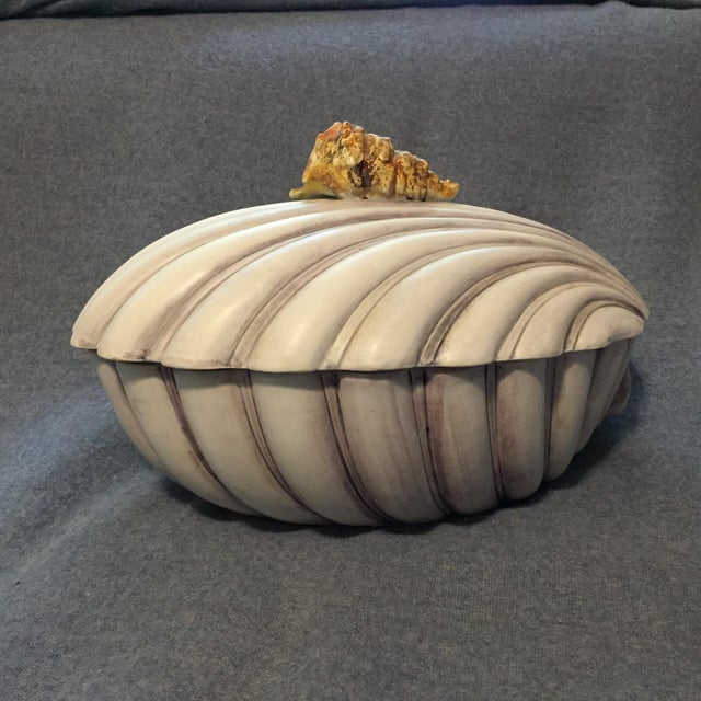 Italian Majolica Clamshell Oyster Soup Tureen For Sale - Image 4 of 13