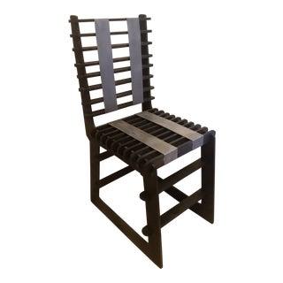 Vintage Sculptural Plywood Puzzle Slat Chair For Sale