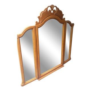 Antique Lexington Tri Fold Dresser Mirror For Sale
