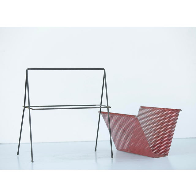 Mid-Century Modern French Magazine Rack For Sale - Image 3 of 5