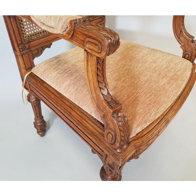 Orange 1910s Vintage Italian Renaissance Style Armchairs- a Pair For Sale - Image 8 of 13