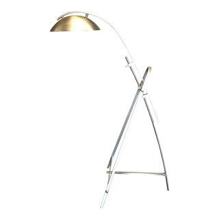 1960s Vintage Saucer Chrome Floor Lamp For Sale