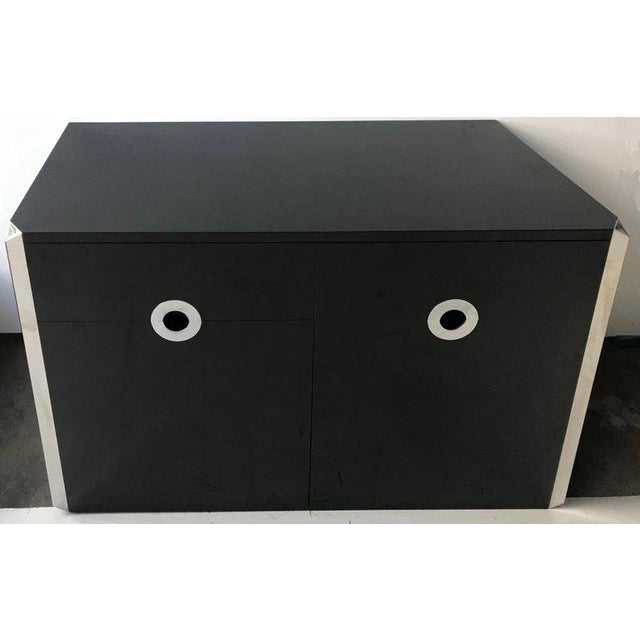 1970s Mario Sabot Black Laminate Sideboards - A Pair For Sale - Image 5 of 6