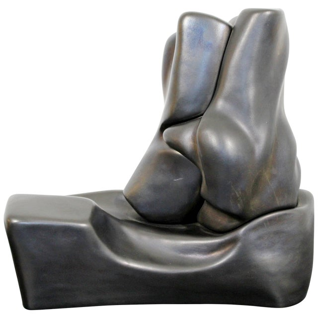 Contemporary Signed Abstract Table Sculpture F. Calderon, 1991 10/50 For Sale
