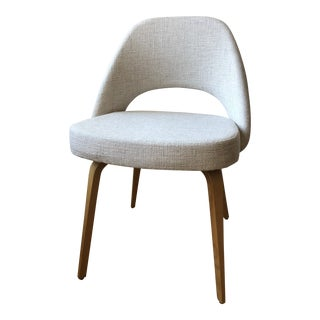 Saarinen Executive Side Chair With Wood Legs - set of 4 For Sale