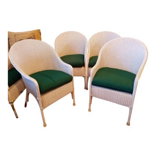 Modern Lloyd Loom Patio Chairs- Set of 4 For Sale